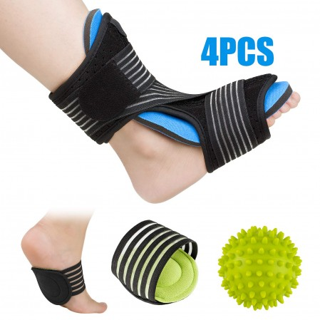 Plantar Fasciitis Night Splint with spiky ball arch supports