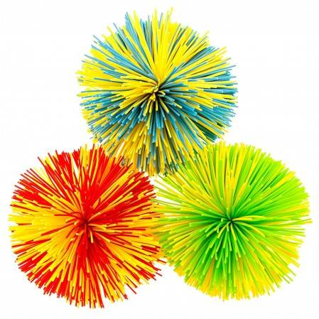 Rainbow Stringy Ball Silicone Bouncing Fluffy Jugging Ball,Monkey Stress Ball