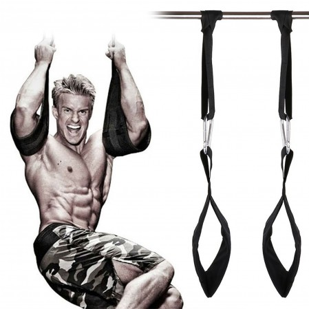 Fitness Ab Straps 1Pair Gym Hanging Sling Straps for Pull Up Abdominal Training strap