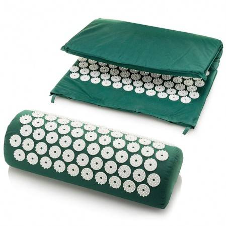 Foot Back and Neck Pain Relief Acupressure Mat and Pillow Set Foot Muscle Acupressure Massage Mat