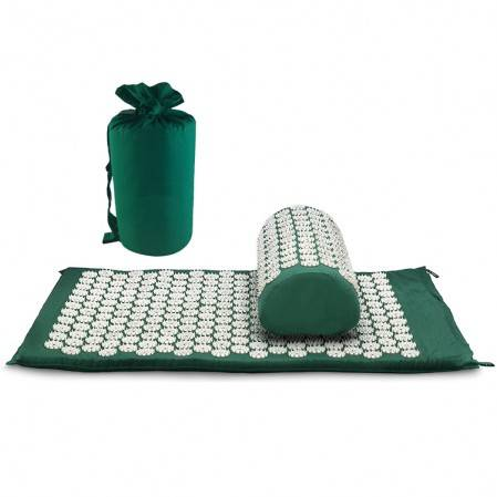 Foot Back and Neck Pain Relief Akupressuremat en kessenset Foot Muscle Acupressure Massage Mat