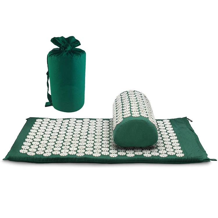 Foot Back and Neck Pain Relief Acupressure Mat and Pillow Set Foot Muscle Acupressure Massage Mat Featured Image