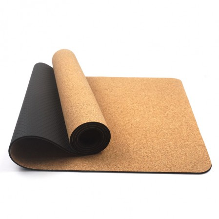 Eco-Friendly Yoga mat Cork & Natural Rubber Mat with yoga strap