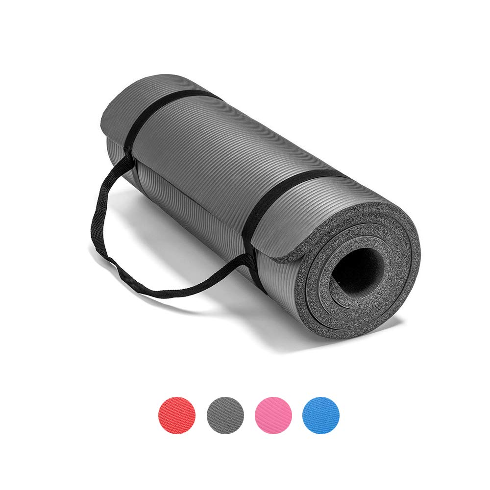 NBR Yoga Mat Fitness & Exercise Mat biċ-Ċinga Easy-Cinch Yoga Mat Carrier