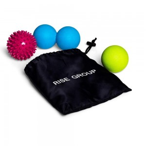 custom color size Silicone comfortable spiky massage balls and Peanut balls set