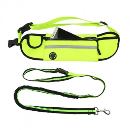 Hands Free Dog Waist Belt with Waist Bag