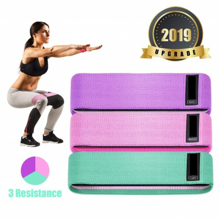 Fabric Resistance Bands set Booty Hip Bands Rolling Circle Bands