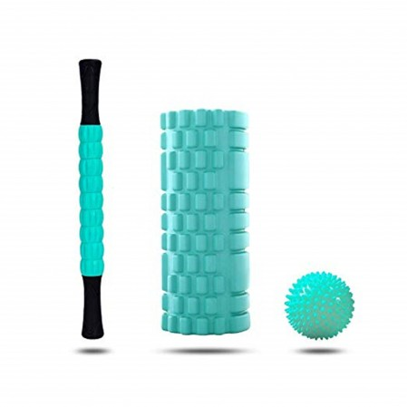 Manufacturer Customize EVA Hollow Yoga Foam Roller Set,Massage Stick and Spiky Ball