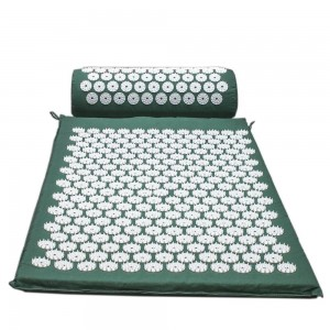 Superior muscle relaxation acupressure mat and pillow set