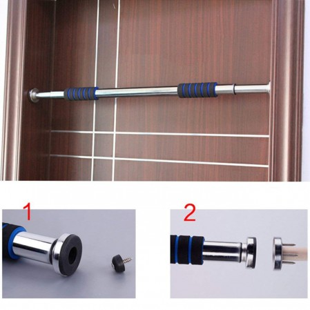 Plated Steel Doorway Pull Up Chin Up Home Exercise Bar