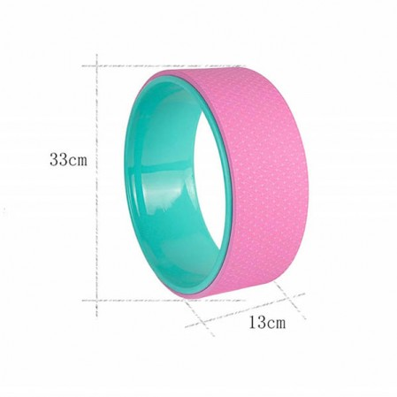 Factory OEM customize Yoga Wheel Comfortable TPE+ABS Perfect for Stretching Improving Flexibility and Backbends Yoga Wheel