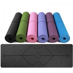 manufacturer customize folding waterproof TPE yoga mat