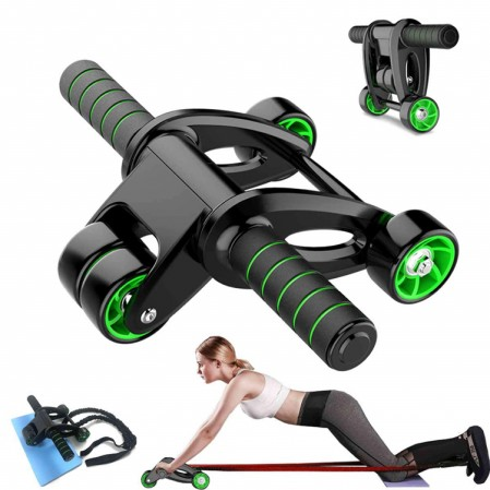 OEM custom AB Wheel Roller Kit,Exercise Roller with Resistance Band and Knee Pad for Abdominal Core Workout