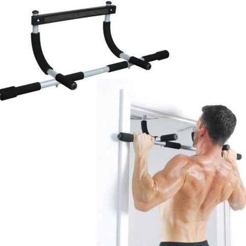 Total upper body workout push up bar chin up bar heavy duty doorway trainer for home gym Featured Image