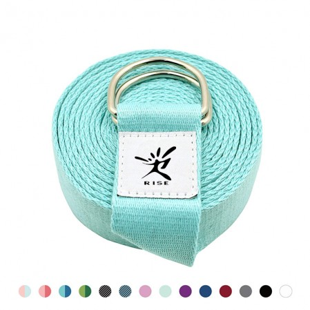 High reputation Pilates Peanut Ball – Custom Adjustable D-Ring Buckle Yoga Stretch Strap for Daily Stretching,Yoga,Pilates – Rise Group