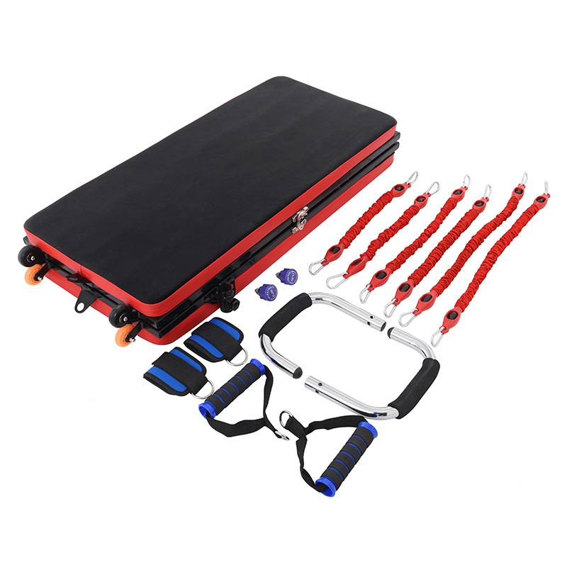 Multifunction Adjustable sit up board gym mat with resistance bands