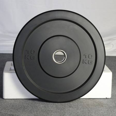 Free Weight Plate with 2 inch, Rubber Barbell Weight