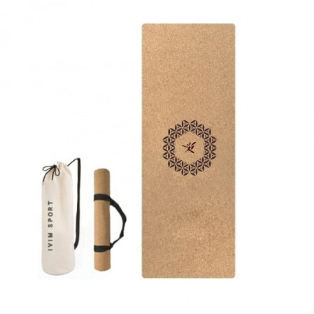Custom cork yoga mat natural rubber yoga mat