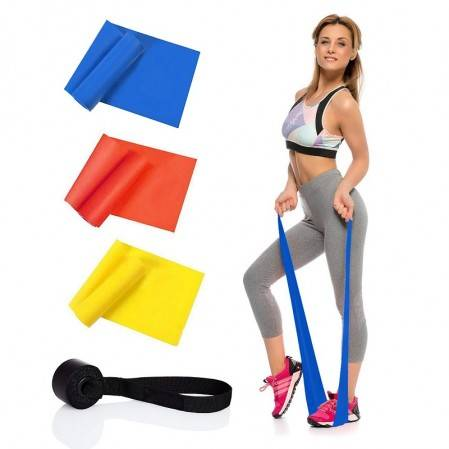 Exercise Resistance Bands Set of 3, 1.5m Stretch Bands for Home Gym, work out bands
