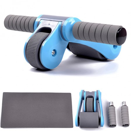 Foldable Abs Workout Kit with Knee Pad ab wheel roller