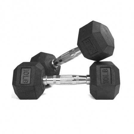 Hex Dumbbell Heavy Weights Barbell Metal Handles for Strength Training Home Gym Exercise Equipment