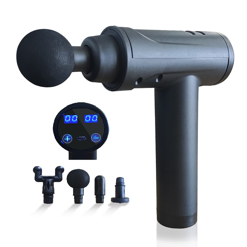 LED screen touch Deep Tissue Massage Gun powerfull Muscle Massager  Portable Handheld with 4 Attachment 4 Speeds