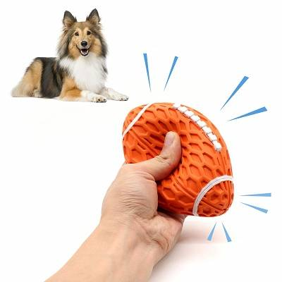 Dog Toys Ball Pet Squeaky Toys Rubber Ball Interactive training and Chew Toys
