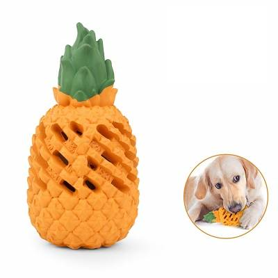 Dog Chew Toys for Aggressive Chewer Indestructible Durable Pineapple Squeaky Dog Chew Toy