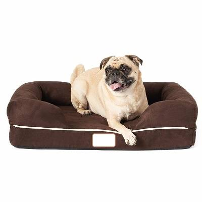 Ultimate Dog Bed, Orthopedic Memory Foam, Multiple Sizes/Colors, Medium Firmness, Waterproof Liner Skin Contact Safe