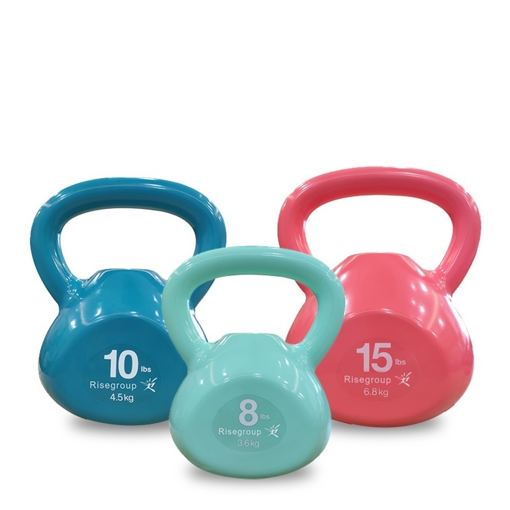 Scratch Free unique design multicolor PVC sand filles kettlebell adjustable weight