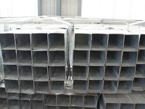 GI pipe pregalvanized steel square rectangle tubes hollow section