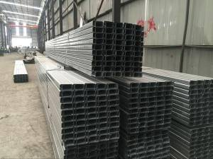 Building material standard thickness of c purlins galvanized c channel