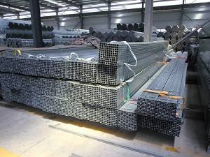 Carbon steel square hollow section hot dip galvanized iron pipe/tube HDG