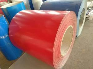 China Factory Promotion cheap ppgi all RAL color zinc aluminized steel coil for building material