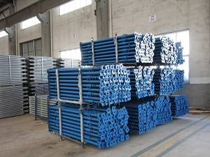 Scaffolding supplier adjustable galvanized steel prop and nut