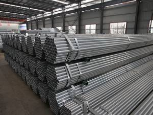 Welded pregalvanized steel round pipe