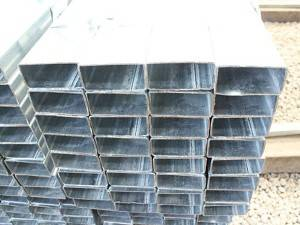 Hollow section factory ! pre galvanized steel pipe 60*40 for fencing posts / pregalvanized square tube
