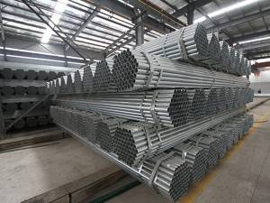 Manufacture Zinc-coated Galvanized Steel Pipe water delivery pipe GI Pregalvanized round steel pipe