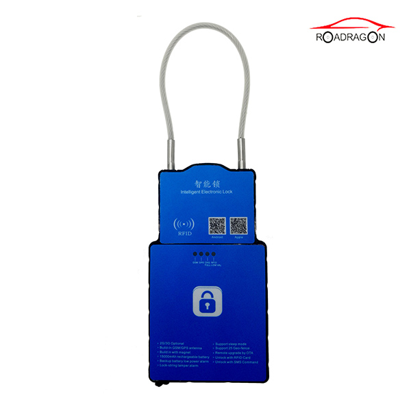 18 Years Factory Smart Security Lock Electronic Timer Padlock Remote Control Padlock For Logistic Transportation Featured Image