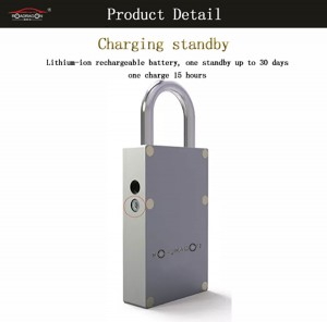 GSM padlock lock with gps external door lock with APP and system