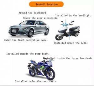 Roadragon Vehicle GPS Tracker Real Time GPS Tracking Motorcycle Car Bike Antitheft GPS Tracking Device Locator MT009