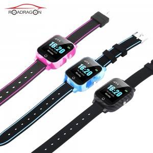 Automatic Body temperature GPS tracker watch with free APP TK-6WT