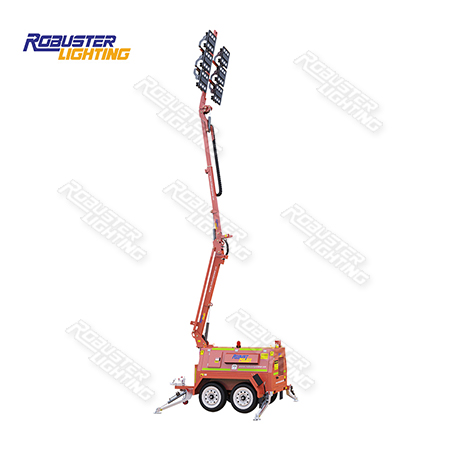 RPLT-7200 AU Standard Heavy Duty Mine Spec Customizable Remote Control Hydraulic Mobile Lighting Tower with 3 Years Warranty IP67 LED