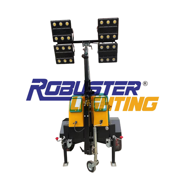 RPLT-3900  Zero noise hybrid portable light tower with fluid containment system
