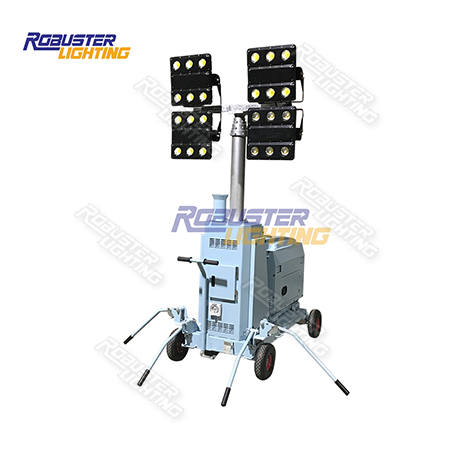 RPLT-1600Y Pneumatic Portable Trolley Trailer Compact Lighting System for Construction & Outdoor Event