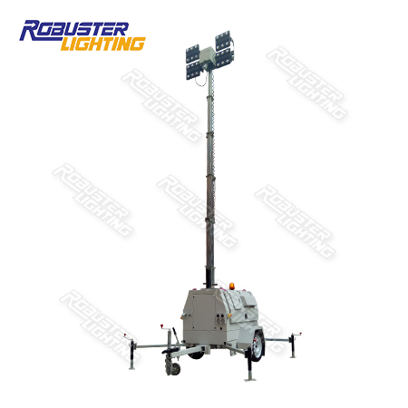 RPLT-6900 AU Standard Metro & Construction Spec Bunded Customizable Hydraulic Mobile Lighting Tower with 3 Years Warranty IP67 LED