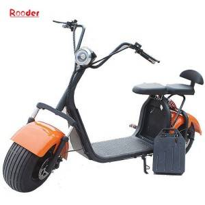 harley electric scooter 1000w r804c with two big motorcycle wheel fat tire 60v removable lithium battery 100 colors from Rooder e-scooter exporter company