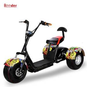 3 wheel electric scooter r804t with fat tire 60v lithium battery 1000w motor customized speed skillful colors black white red green pink yellow orange graffiti
