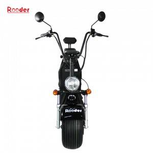 Rooder COC approval e scooter harley citycoco with removable battery
