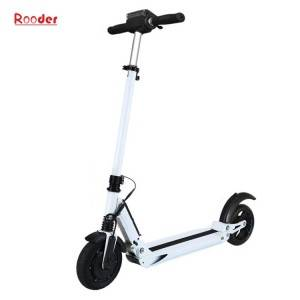 folding electric scooter r803b for adult with 8 inch brushless motor wheel lcd screen black white blue color for sale